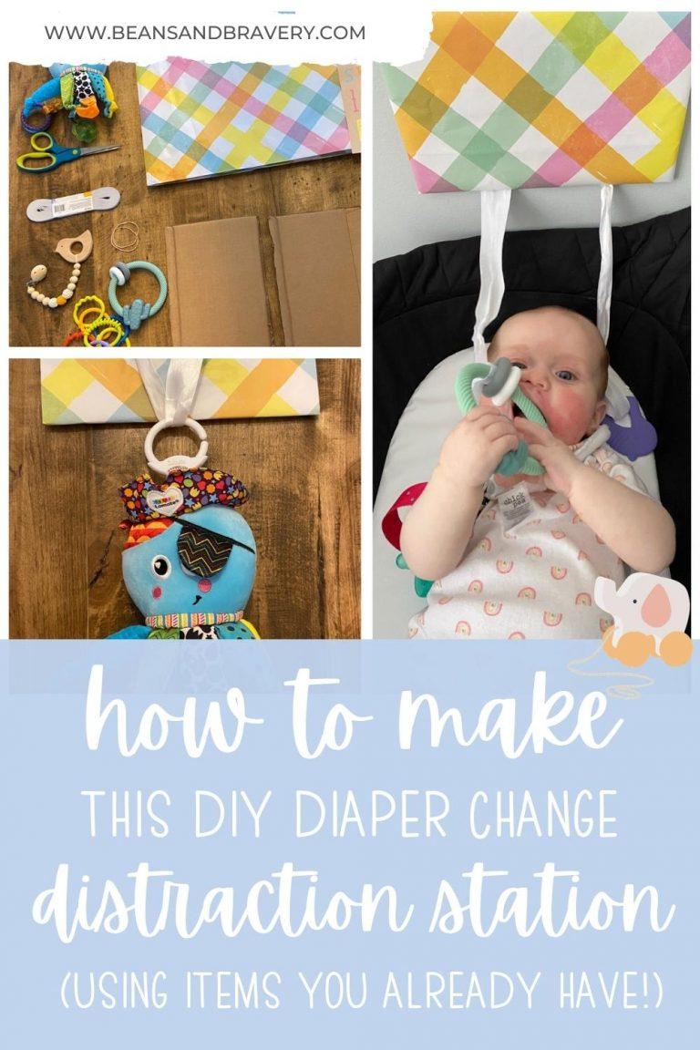 DIY diaper change distractions