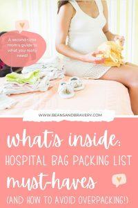 mom packing hospital bag
